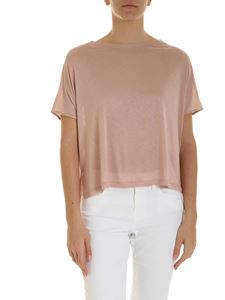 Dondup - Laminated print T-shirt in antique pink