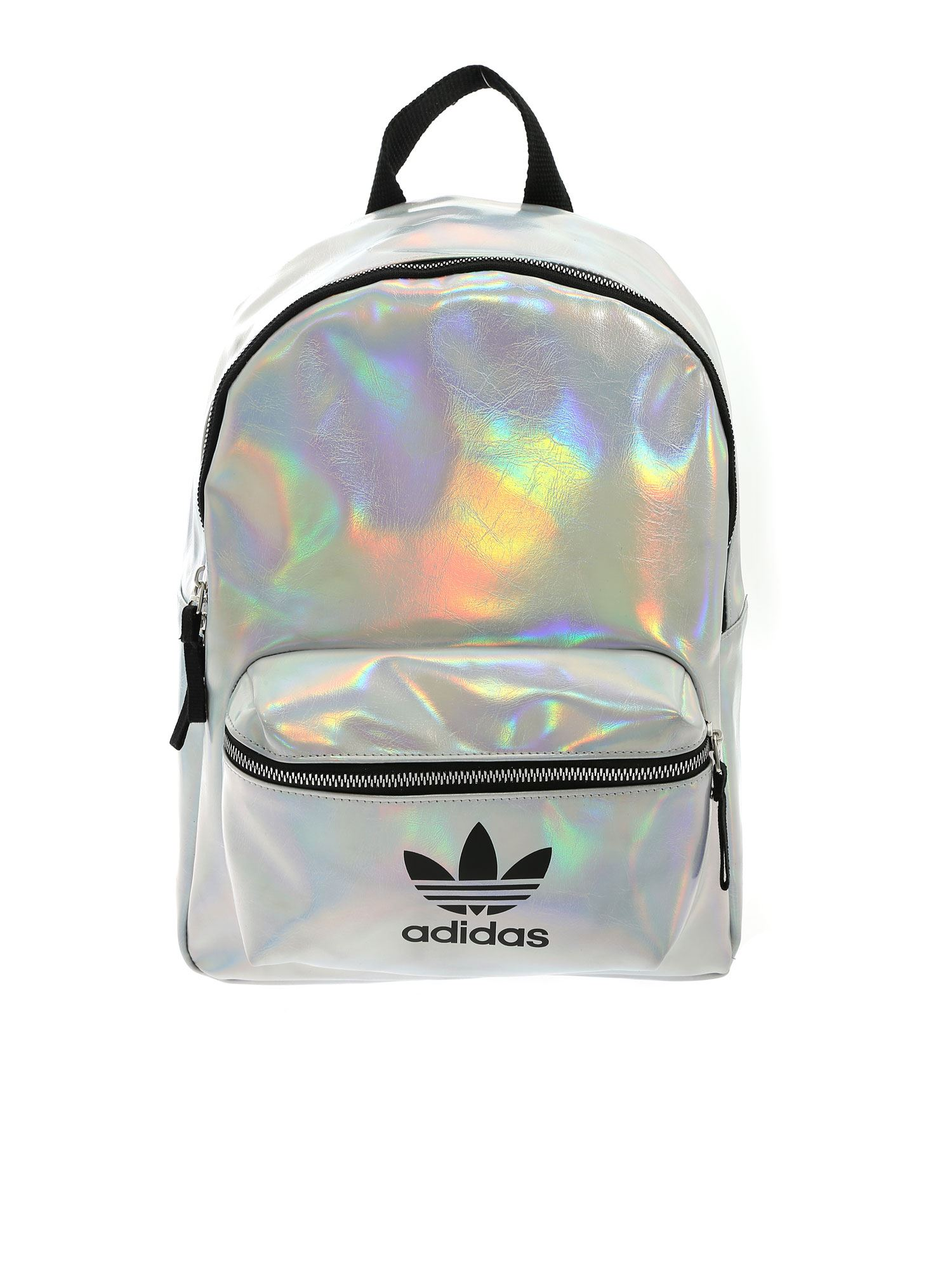 Adidas Originals ADIDAS ORIGINALS METALLIC BACKPACK IN SILVER