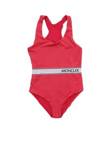 Moncler Jr - Logo swimsuit in fuchsia