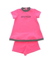 Moncler Jr - T-shirt and shorts in fuchsia