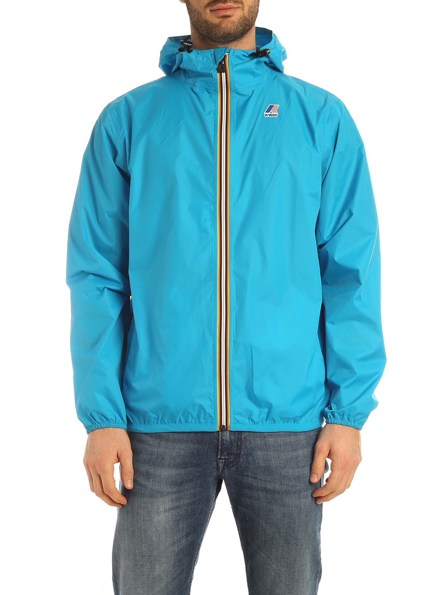 K-Way LE VRAI 3.0 CLAUDE JACKET IN TURQUOISE