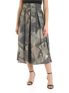 Department 5 - Midi skirt in shades of green