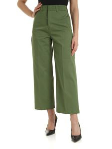 Department 5 - Wide leg trousers in green