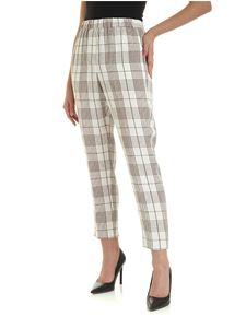 Peserico - Striped trousers in brown and white
