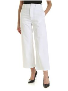 Department 5 - Wide leg trousers in white