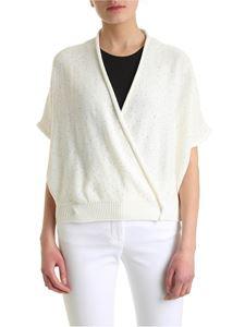 Peserico - Micro sequins cardigan in white
