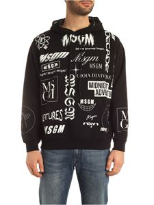 MSGM - Multi logo prints sweatshirt in black