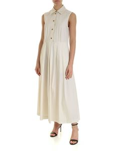 Department 5 - Long pleated dress in white