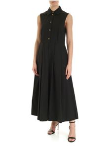 Department 5 - Long pleated dress in black