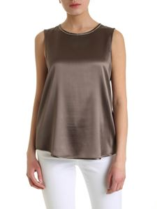 Peserico - Brown silk top