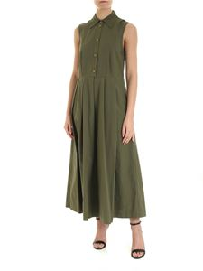 Department 5 - Long pleated dress in military green
