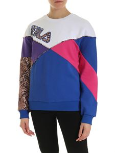 Fila - Kana electric blue sweatshirt with print logo
