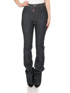 Dsquared2 - High Waist Twiggy Flare Angel jeans in dark blue