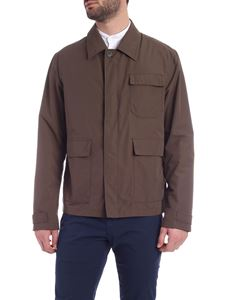 Herno - Military green jacket with pockets