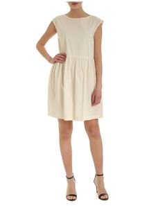 Woolrich - Sleeveless short dress in cream color