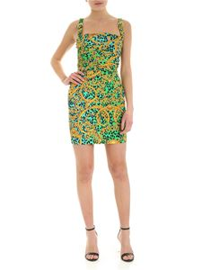 Versace Jeans Couture - Leo Chain print dress in green and blue