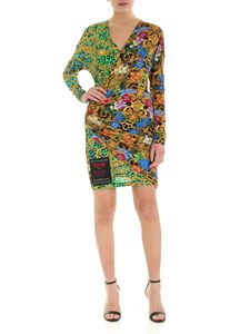 Versace Jeans Couture - Mixed print pleated dress