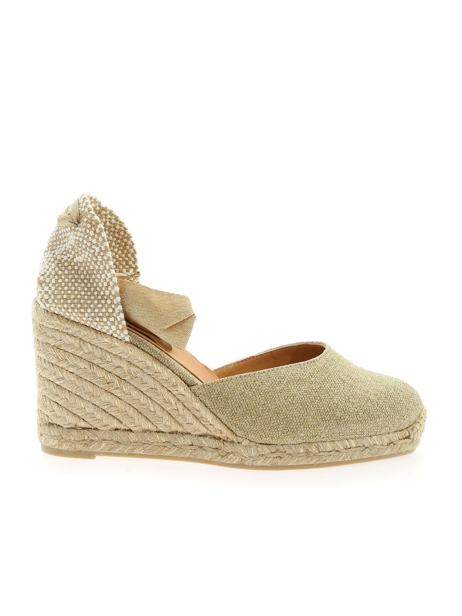 Castaã±er CARINA ESPADRILLES IN GOLD COLOR