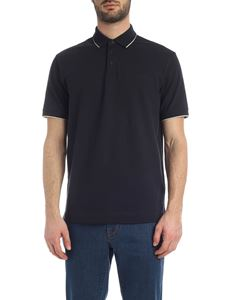 Z Zegna - Contrasting details polo shirt in blue