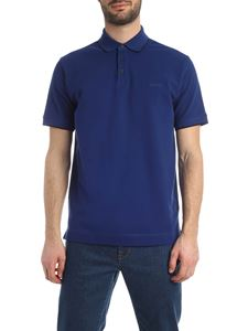Z Zegna - Contrasting details polo shirt in electric blue