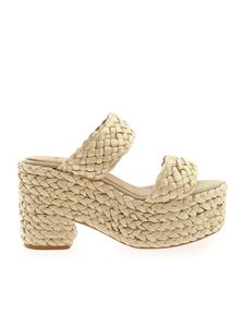 Castaner - Xemei sandals in beige with weaves