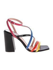 MSGM - Contrasting straps sandals in black