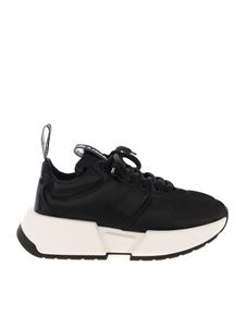 MM6 Maison Margiela - Branded pull loop sneakers in black