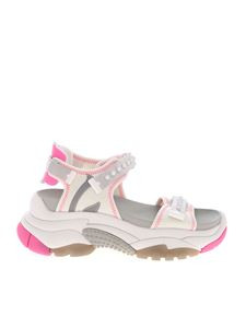 Ash - Adapt sandals in white and pink