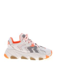 Ash - Extreme sneakers in white and neon salmon pink