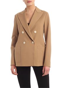Harris Wharf London - Double-breasted jacket in camel color