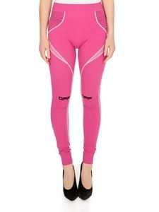 Off-White - Active performance leggings in fuchsia