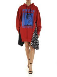 McQ Alexander Mcqueen - Hybrid Rust sweatshirt dress in red