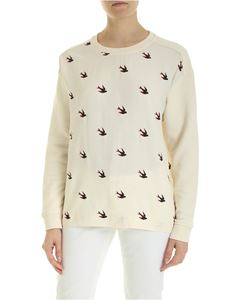 McQ Alexander Mcqueen - Umeko sweatshirt in cream color