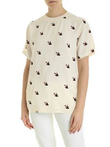 McQ Alexander Mcqueen - Umeko T-shirt in cream color