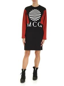 McQ Alexander Mcqueen - Shizoku dress in black and brick red