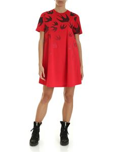 McQ Alexander Mcqueen - Babydoll dress in red
