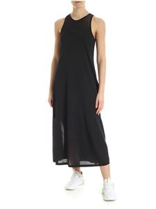 Y-3 Yohji Yamamoto - Semi-transparent sleeveless dress in black