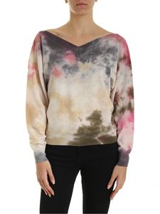 MSGM - Pullover in fresco di lana vergine multicolor