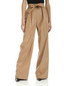 MSGM - Pantalone gamba larga color cammello