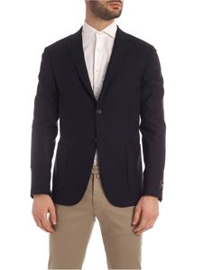 Z Zegna - Diagonal fabric single-breasted jacket in blue