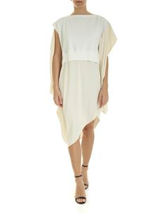 MM6 by Maison Martin Margiela - Oversize dress in ivory color