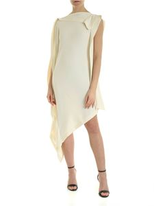 MM6 Maison Margiela - Asymmetrical dress in ivory color