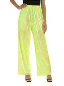 MM6 Maison Margiela - Sequins trousers in neon yellow
