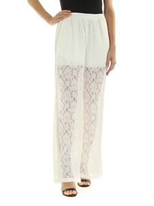 MM6 Maison Margiela - Lace trousers in white