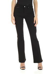 MM6 by Maison Martin Margiela - Flared jeans in black