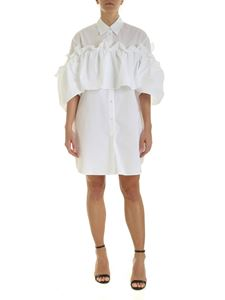 MM6 Maison Margiela - White chemisier with curled ruffle