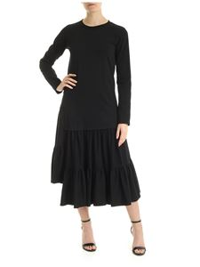 MM6 Maison Margiela - Long dress in black with flounces