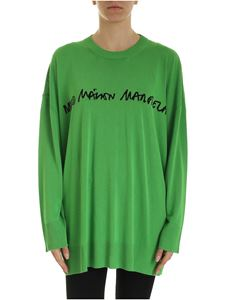 MM6 by Maison Martin Margiela - Pullover with logo intarsia in green