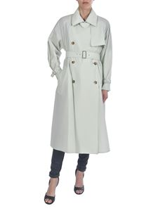Max Mara - Falster double-breasted trench coat in light green