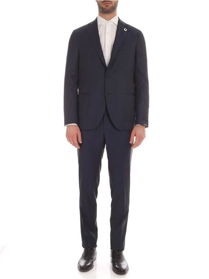 Lardini - Cool wool suit in blue